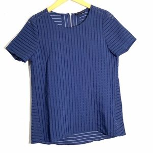 COPY - J. Crew Women Shadow Stripe Top 2 Semi She…